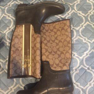 Coach rain boots size 7/8